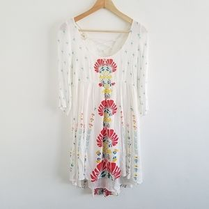 O'Neill White Floral Lace Up Dress  Size Small
